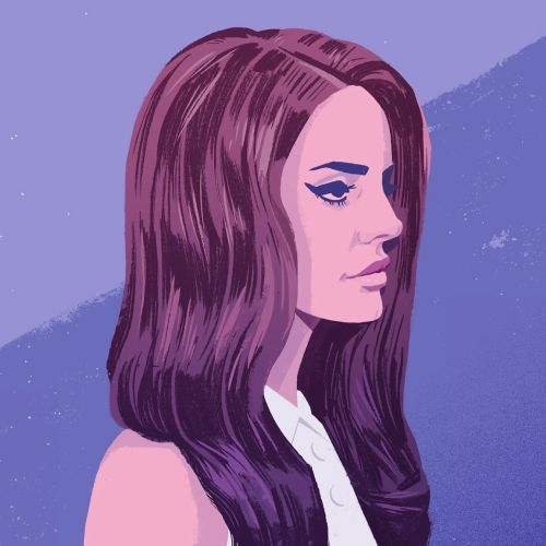portrait art of lana del rey