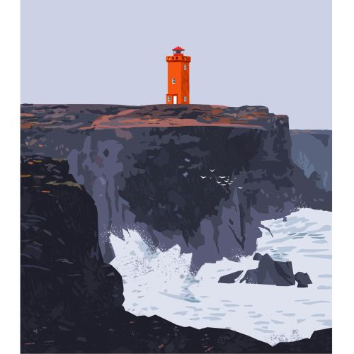 painting of svo¨rtuloft lighthouse
