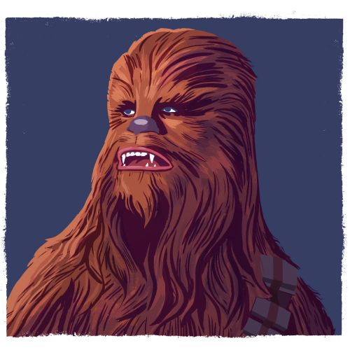 Portrait of star wars character chewbacca