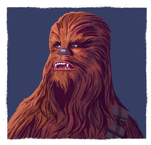 Retrato del personaje de Star Wars Chewbacca