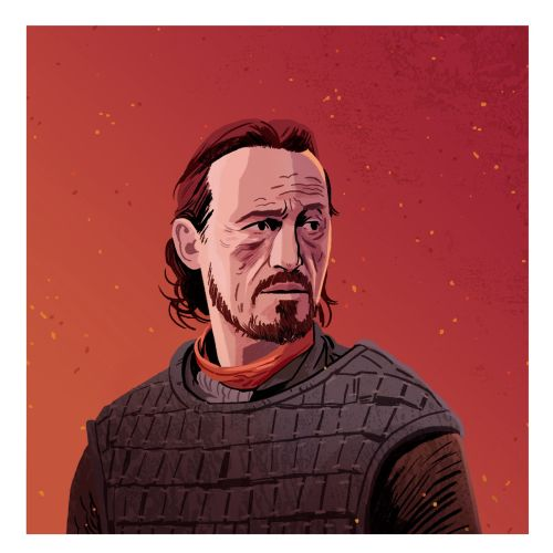 portrait of bronn from game of thrones