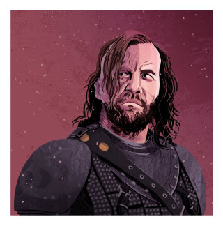 portrait of hound from game of thrones