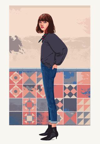 girl in fashion artwork