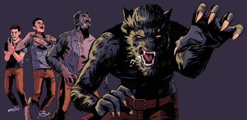 obra de arte lobo peligroso