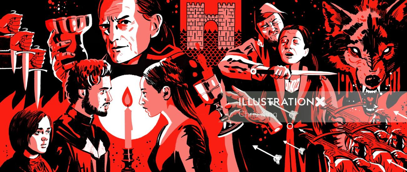 game of thrones scenes in a artwork