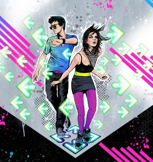 Una ilustración de la pareja de baile