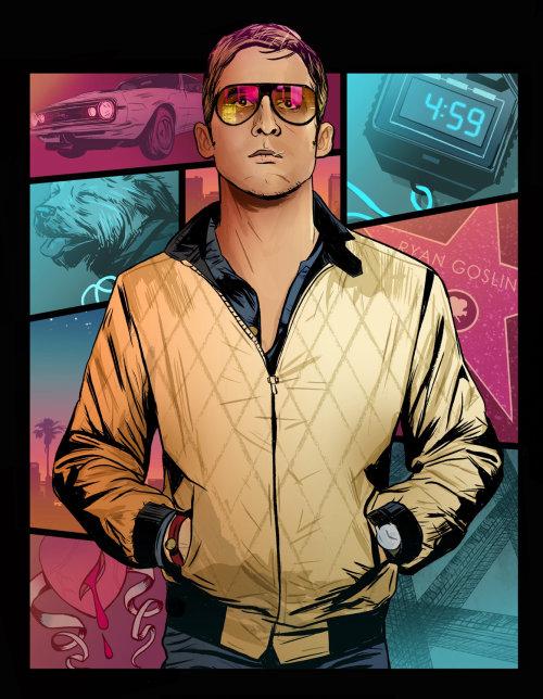 Una ilustración de Ryan Gosling