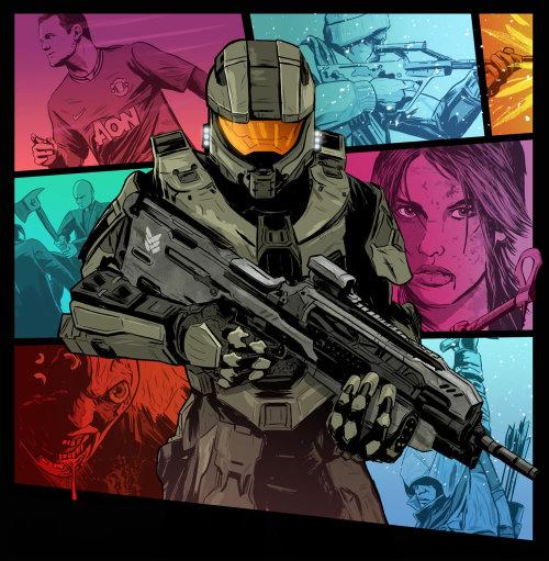 arte collage de juegos de 2012
