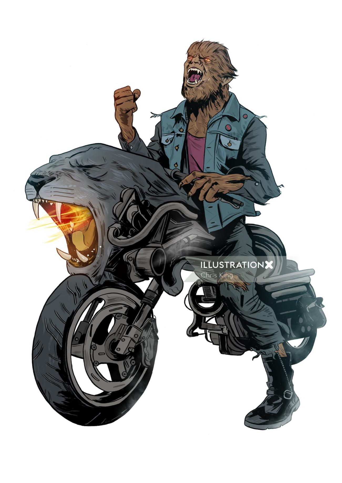An illustration of Werewolf