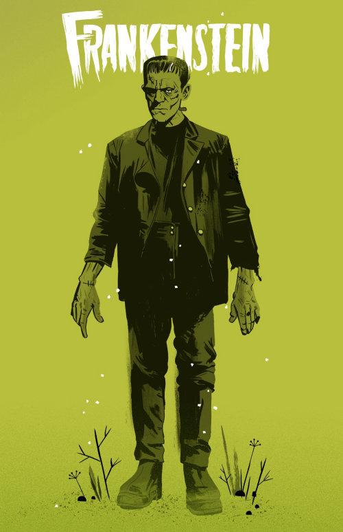 Ilustración de Frankenstein por Cris King