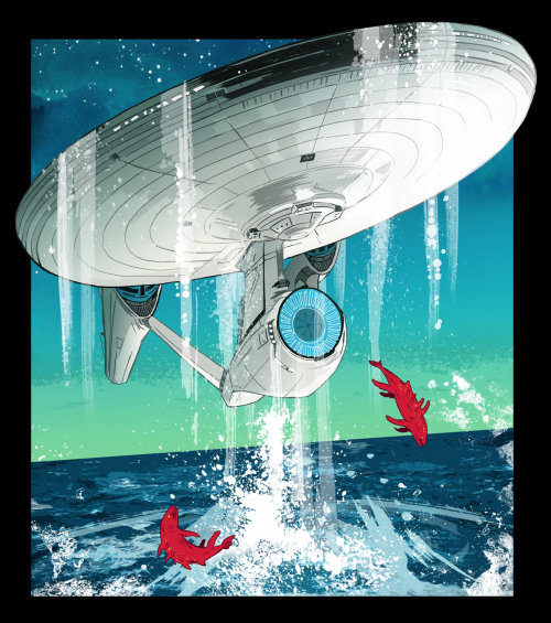 An illustration of star trek ship