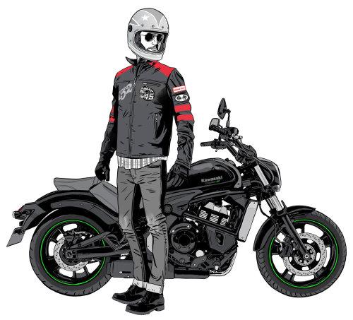 Kawasaki Vulcan 01 ilustración de Chris King