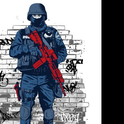 Swat/Police illustration by Cris King