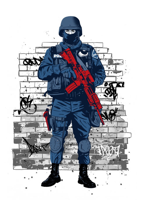 Ilustración Swat / Police de Cris King
