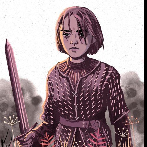 Arya Stark illustration by Cris King