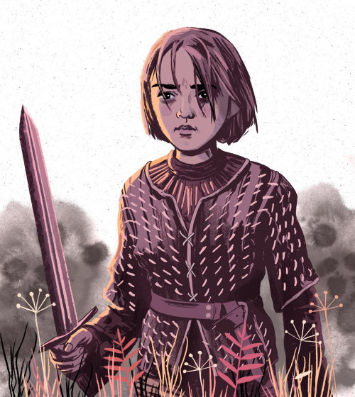 Ilustración de Arya Stark por Cris King