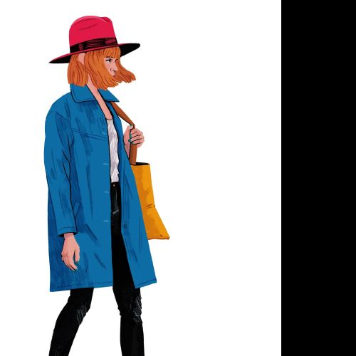Shopping woman illustration by Chris King