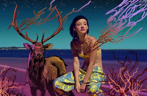 Ilustración de fotografía de Zanita Whittington por Chris King