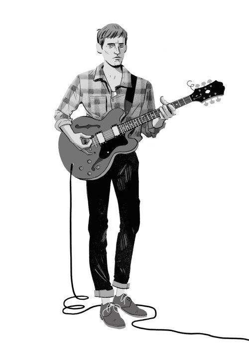 Ilustración Gitarista por Cris King