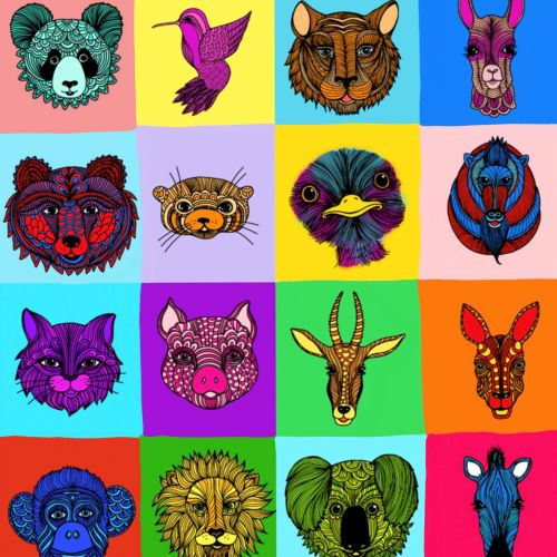 Animal icon design by Chrissy Lau