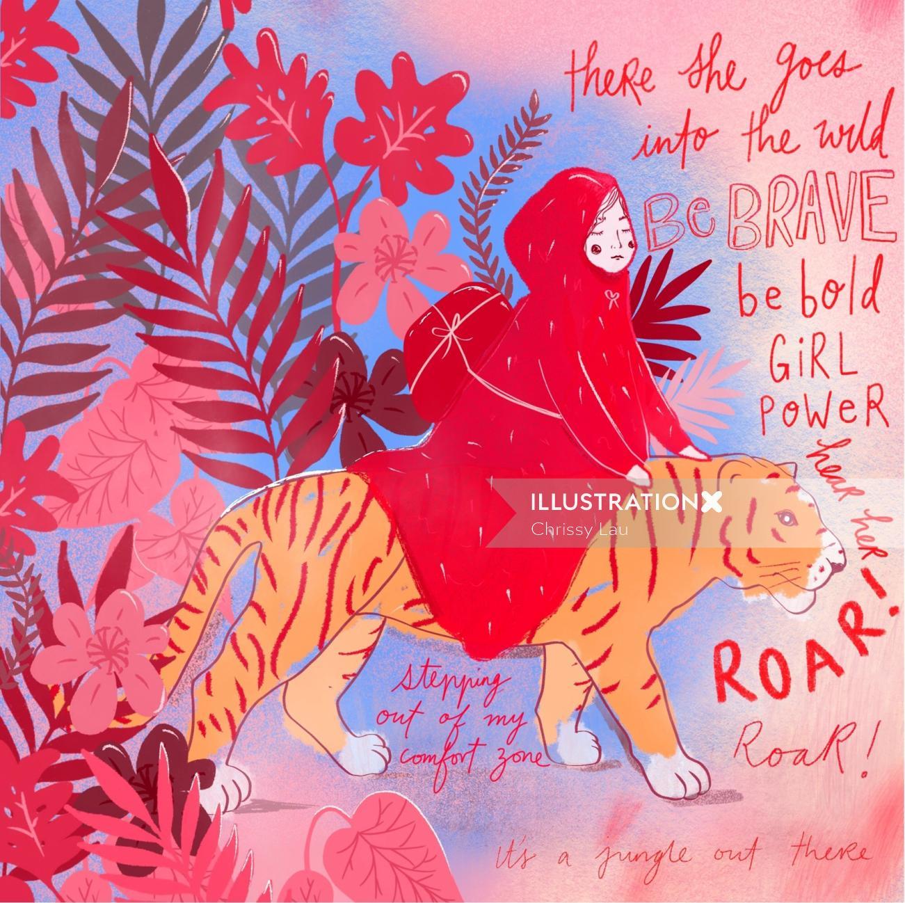 Lettering of girl power