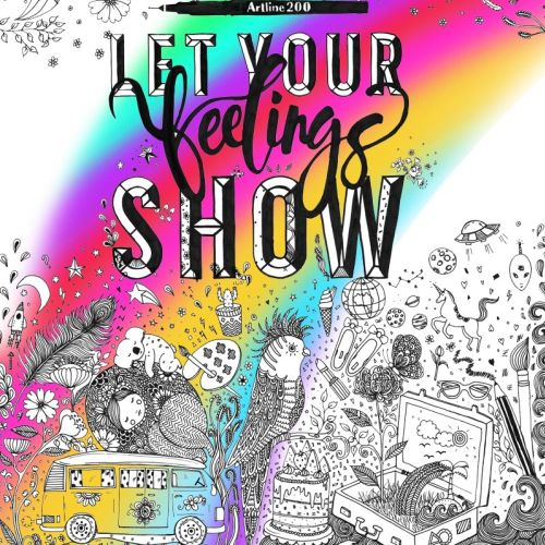 Let your feelings shows lettering for children book