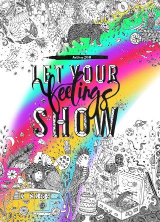 Let your feelings shows lettering for children book