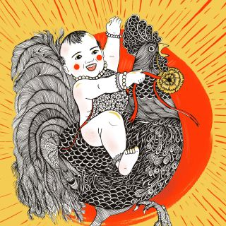 Black and white art for chinese new years