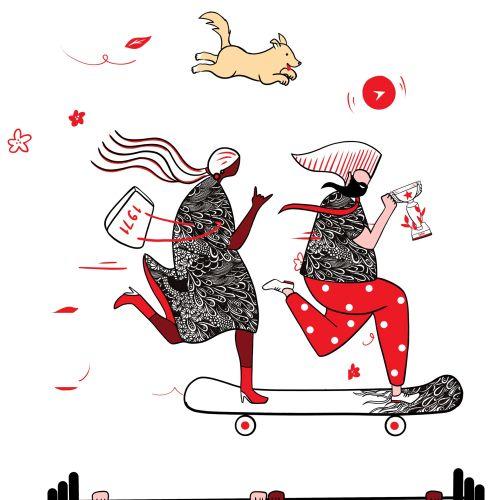 Chrissy Lau Komplizierter Linienillustrator. Australien