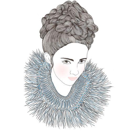 Portrait illustration of women