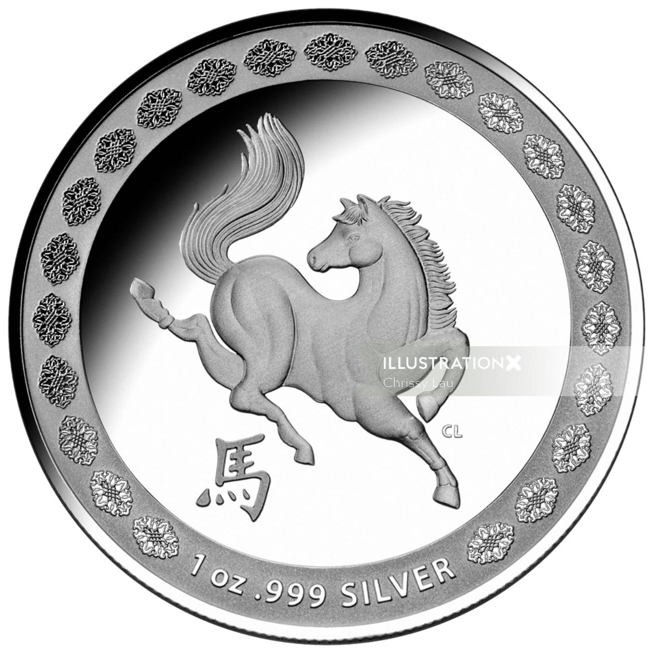 Year of Horse Coin Design