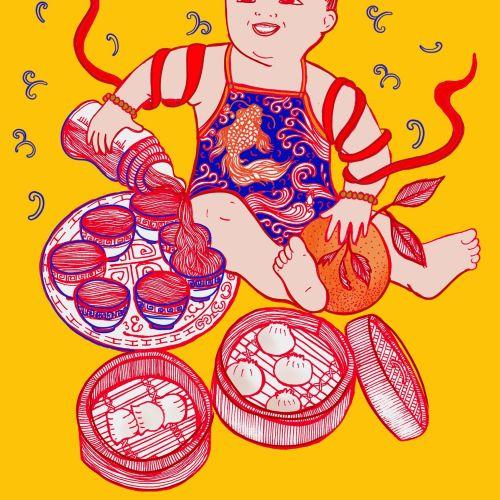 Yum Cha Baby sketch art