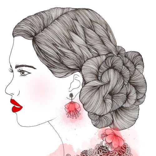 Fashion Illustration of beautifull women