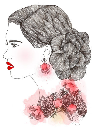 Fashion Illustration of beautifull women