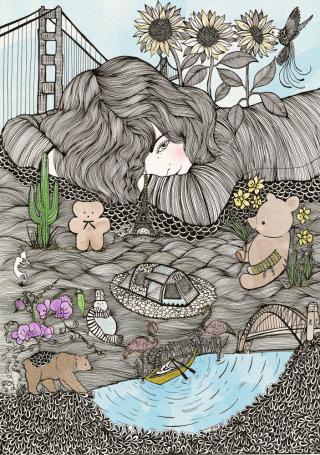 Editorial art work by Chrissy Lau