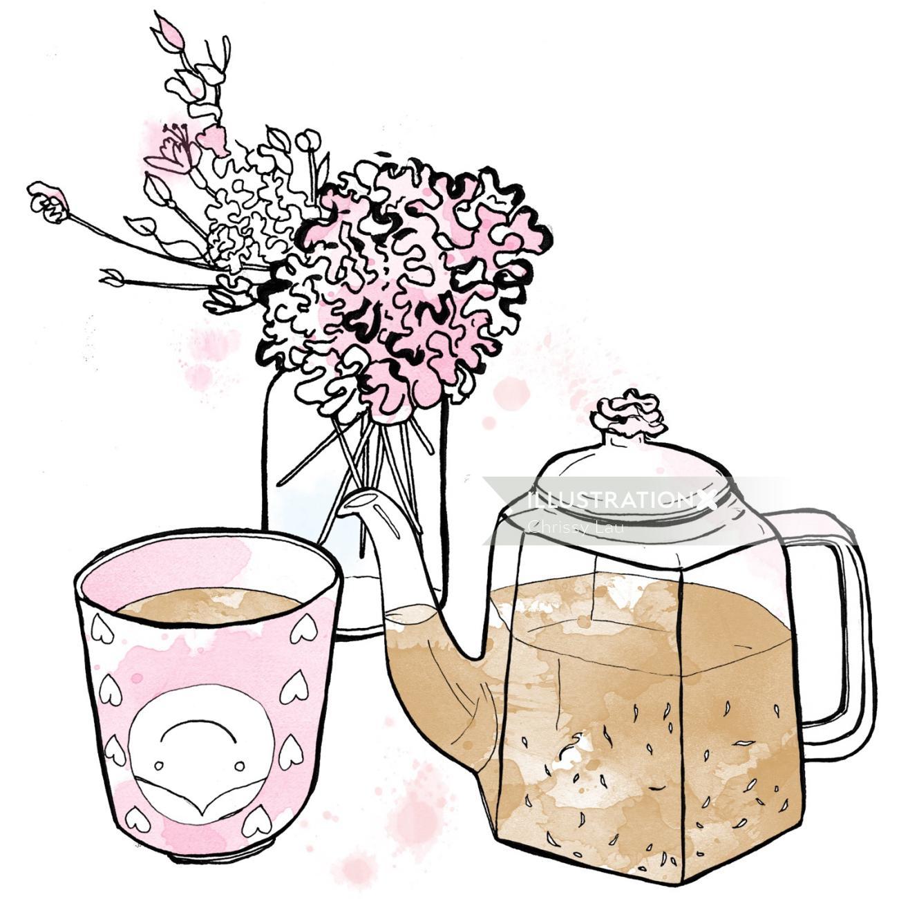 Art  of Teapot and teacup