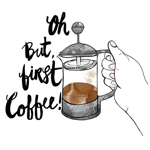 Lettering art of oh but first coffee