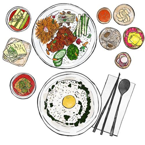 Korean food illustration