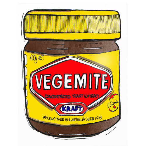 Packaging illustration of Vegemite