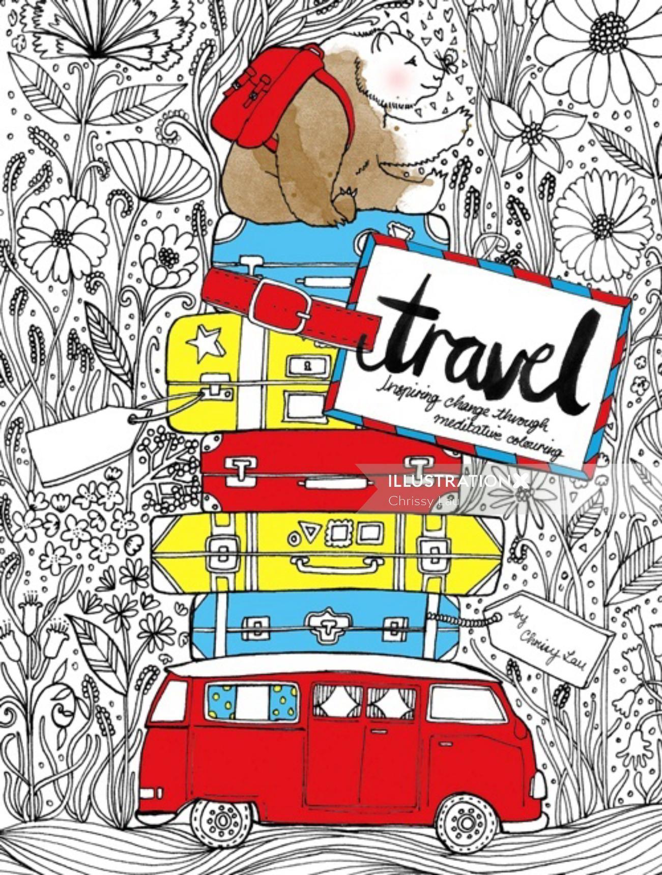 Lifestyle illustration of travel