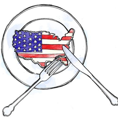 Map illustration of america