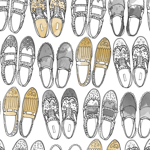Loafers shoes illustration
