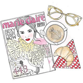 Marie claire magazine fashion cover