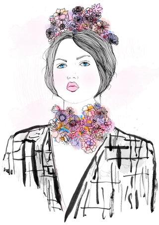 Portrait of fashion lady
