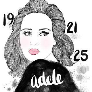 Adele singer portrait by Chrissy Lau
