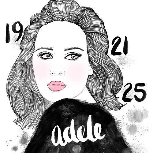 Adele singer portrait by Chrissy Lau