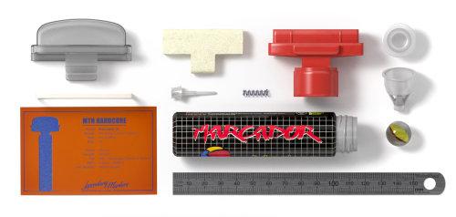 Un conjunto de herramientas de fontanería exhibidas en arte 3d