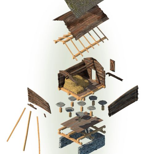 3d model showing different parts used in a house