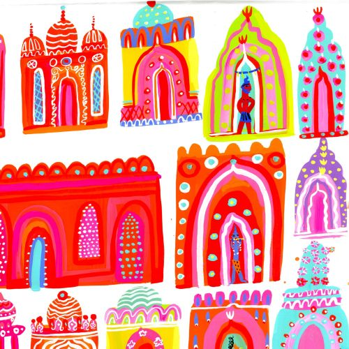Painting Decorative indian places