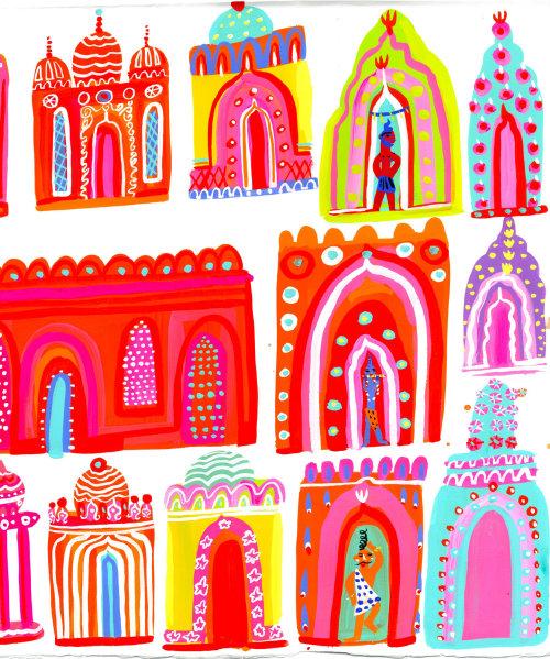 绘画装饰印度地方
